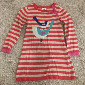 Mini Boden bird dress - size 4-5Y